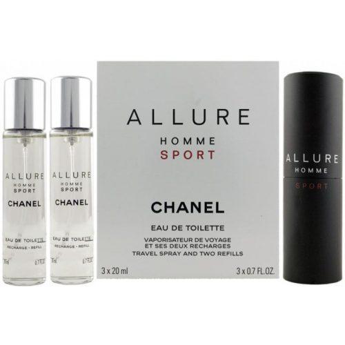 Chanel Allure Homme Sport EDT 3x20ml utántöltő Uraknak