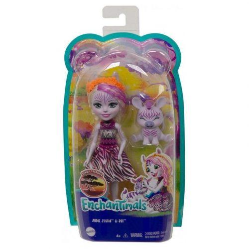Mattel Enchantimals válogatás baba állatkával - Zadie Zebra