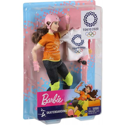 Mattel Barbie TOKIÓ 2020 olimpikonok - Skateboard (GJL73)