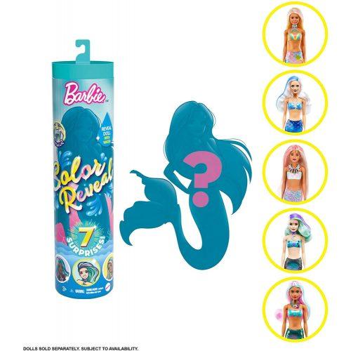 Barbie Color Reveal: Meglepetés baba - Tündöklő sellők (GTP43)