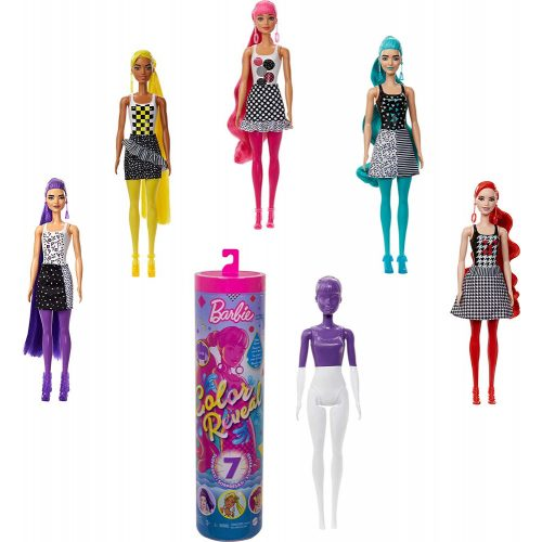 Mattel Barbie Color Reveal meglepetés baba Divatos színek (GTR94)