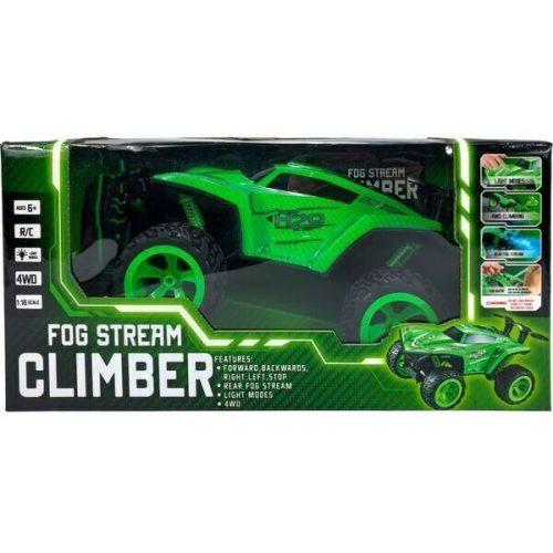 Ledes Climber járgány kipufogófüsttel - zöld (RC1125a)